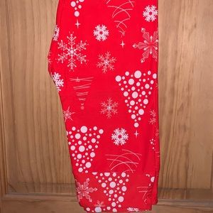 NWT OS LLR Snowflake Christmas Holiday Leggings